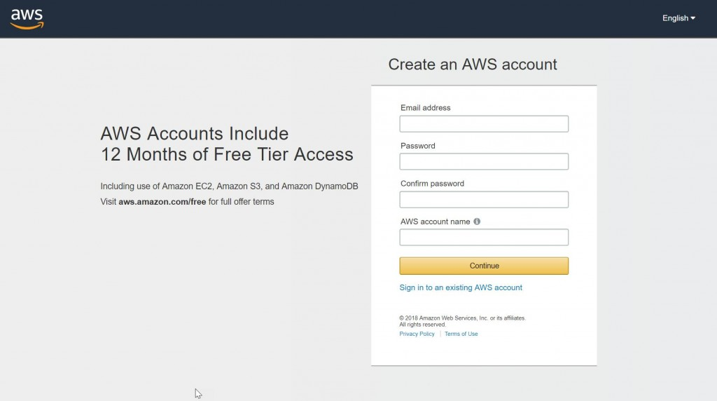How to Create an AWS account and host your Application On